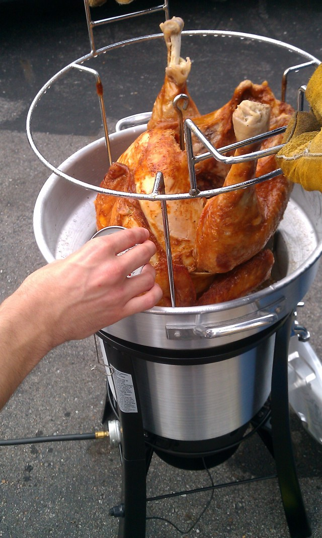 Deep Fried Turkey, right out of the fryer